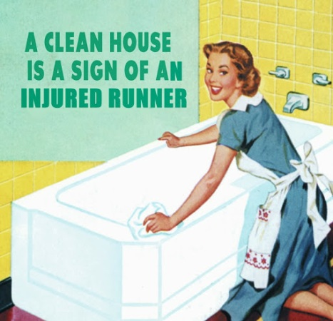 clean house injured runner