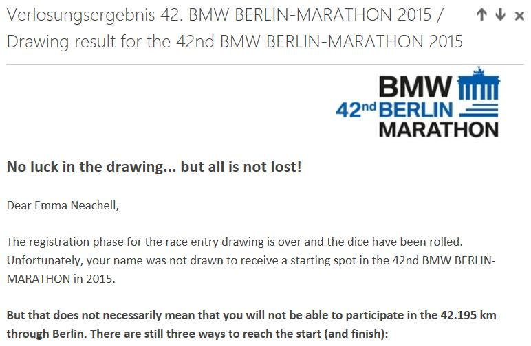 Berlin Marathon Application