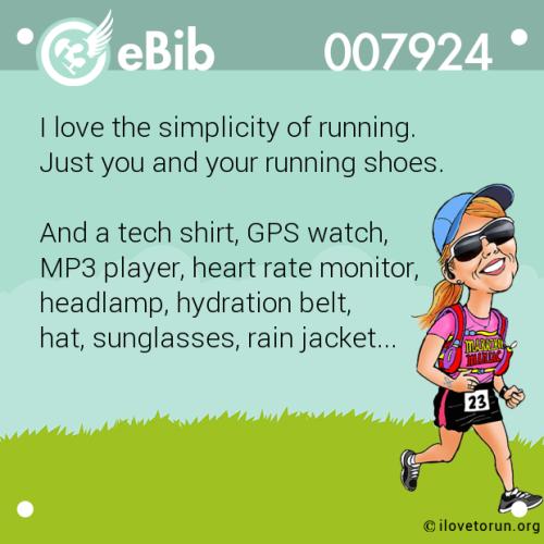 Running simplicity
