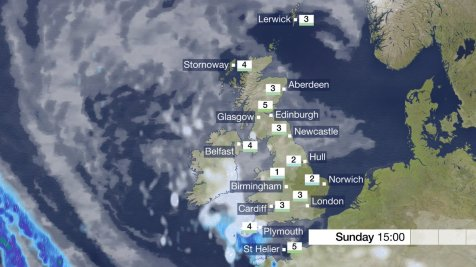 BBC Weather Sunday