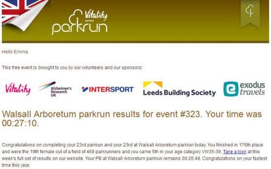 parkrun result