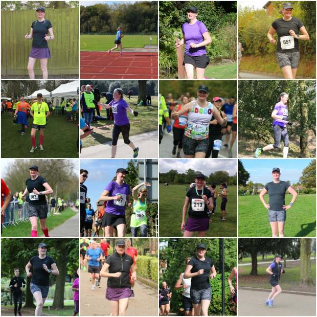 Running photo collage