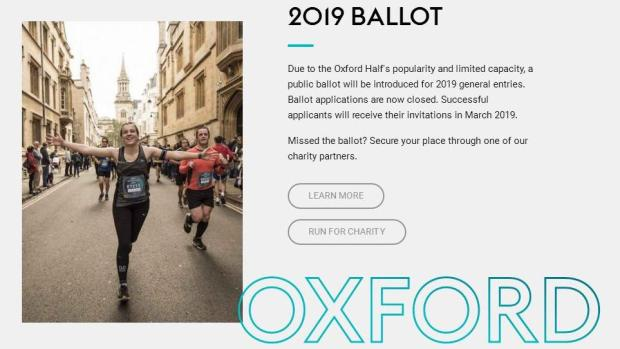 Oxford Half ballot