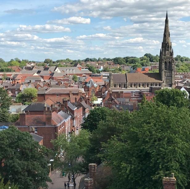 View across Lichfield