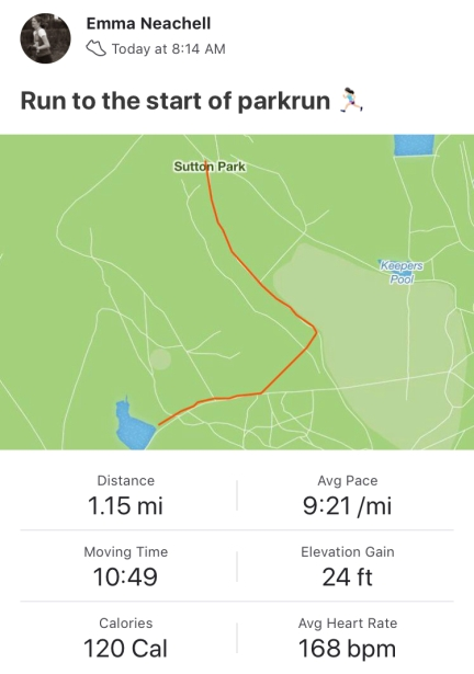 Run to parkrun