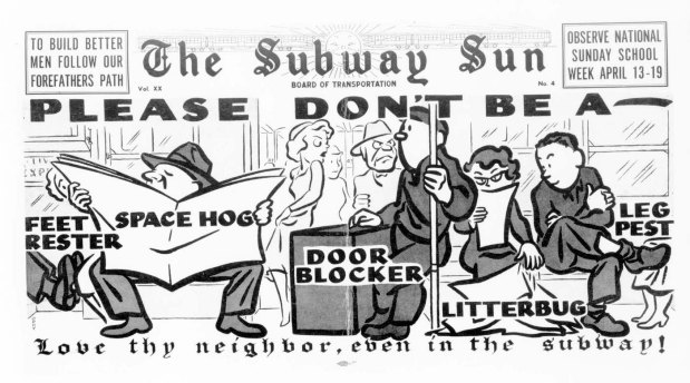 Subway-Sun-NYC-1953